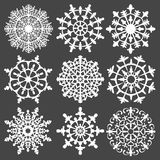 Vector set of silhouette snowflakes for your Royalty Free Stock Image