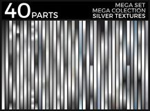 Vector Set of Silver Gradients, Silver Squares Collection, Textures Group. Eps 10 stock illustration