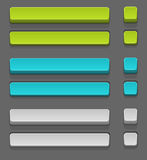 Vector set of simple buttons Royalty Free Stock Image
