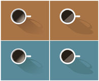 Vector set of simple coffee icons Stock Photography