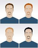 Vector set of simple male faces Stock Photo