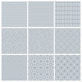 Vector set of simple mono line patterns Stock Photography