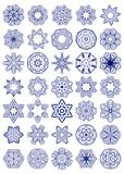 Vector Set of Simple Sacred Geometry Symbols. Royalty Free Stock Photo