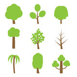Vector set of simple trees Royalty Free Stock Image