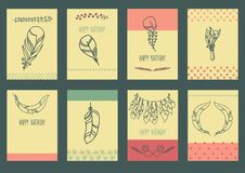 Vector Set of Sketch Plumage Stock Photo