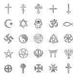 Vector set of sketch religious symbols. Vector set of  sketch religious symbols Royalty Free Stock Photo