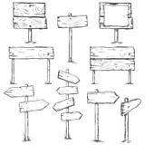 Vector Set of Sketch Signposts Stock Photo