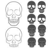 Vector set of skulls. EPS10 Stock Photos