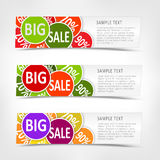 Vector set of slave horizontal banners. Royalty Free Stock Photo