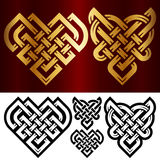 Vector set of small celtic hearts  on white background Royalty Free Stock Images