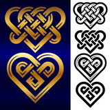 Vector set of small celtic hearts  on white background Stock Photos