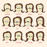 Vector set of smile faces Stock Photography