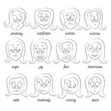 Vector set of smile faces Royalty Free Stock Images