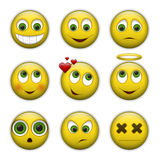 Vector set of smile icons Stock Image