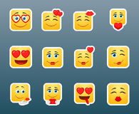 Vector set smile love stickers Stock Photography