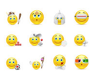 Vector set of smiles in the games category Stock Photos