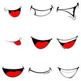 Vector of set smiles Stock Photography