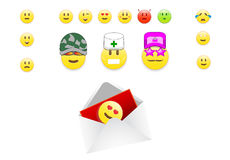 Vector Set smileys Royalty Free Stock Photos