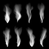 Vector set smoke, background, fire, smooth, wallpaper, concept, shape, Royalty Free Stock Photo