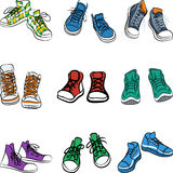 Vector set of sneakers Royalty Free Stock Images