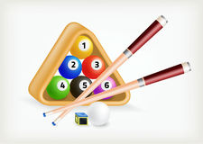 Vector set snooker Stock Images