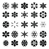 Vector set snowflake elements. Stock Photography