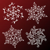 vector Set of snowflakes Stock Image