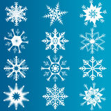 Vector set of snowflakes Stock Images