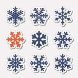 Vector set of snowflakes. Royalty Free Stock Images