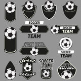 Vector Set Soccer Champions Labels Stock Photography