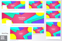 Vector,set of Social media Cover and ads layout background, Mate Stock Photography