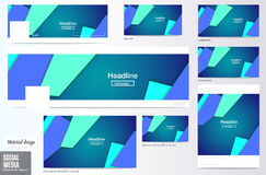 Vector,set of Social media Cover and ads layout background, Mate Stock Photo