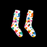 Vector set socks with abstract pattern drops black Royalty Free Stock Photos