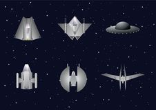 Vector set of space crafts Stock Images