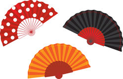 Vector set spanish fan illustration Stock Photo
