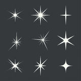 Vector set of sparkle lights Stock Photo