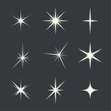 Vector set of sparkle lights Stock Photo