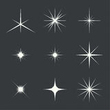Vector set of sparkle lights Royalty Free Stock Photos
