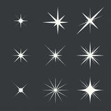 Vector set of sparkle lights Royalty Free Stock Image