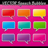 Vector set of speech Royalty Free Stock Photo
