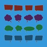 Vector set of speech bubble icons Stock Photos