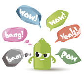 Vector set of speech bubbles and balloons in trendy style. Royalty Free Stock Image