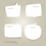 Vector set of speech bubbles Stock Images