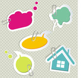 Vector set of speech bubbles Royalty Free Stock Image