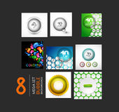 Vector set of sphere and bubble designs Stock Photos