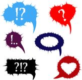 Vector set with spiny frames and speech balloons Royalty Free Stock Image