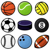 Vector set with sport balls. Cartoon illustration Stock Photo