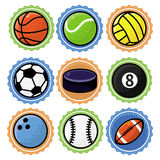Vector set with sport balls Royalty Free Stock Photography