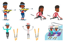 Vector set of sport characters. Royalty Free Stock Images
