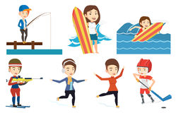 Vector set of sport characters. Stock Photo